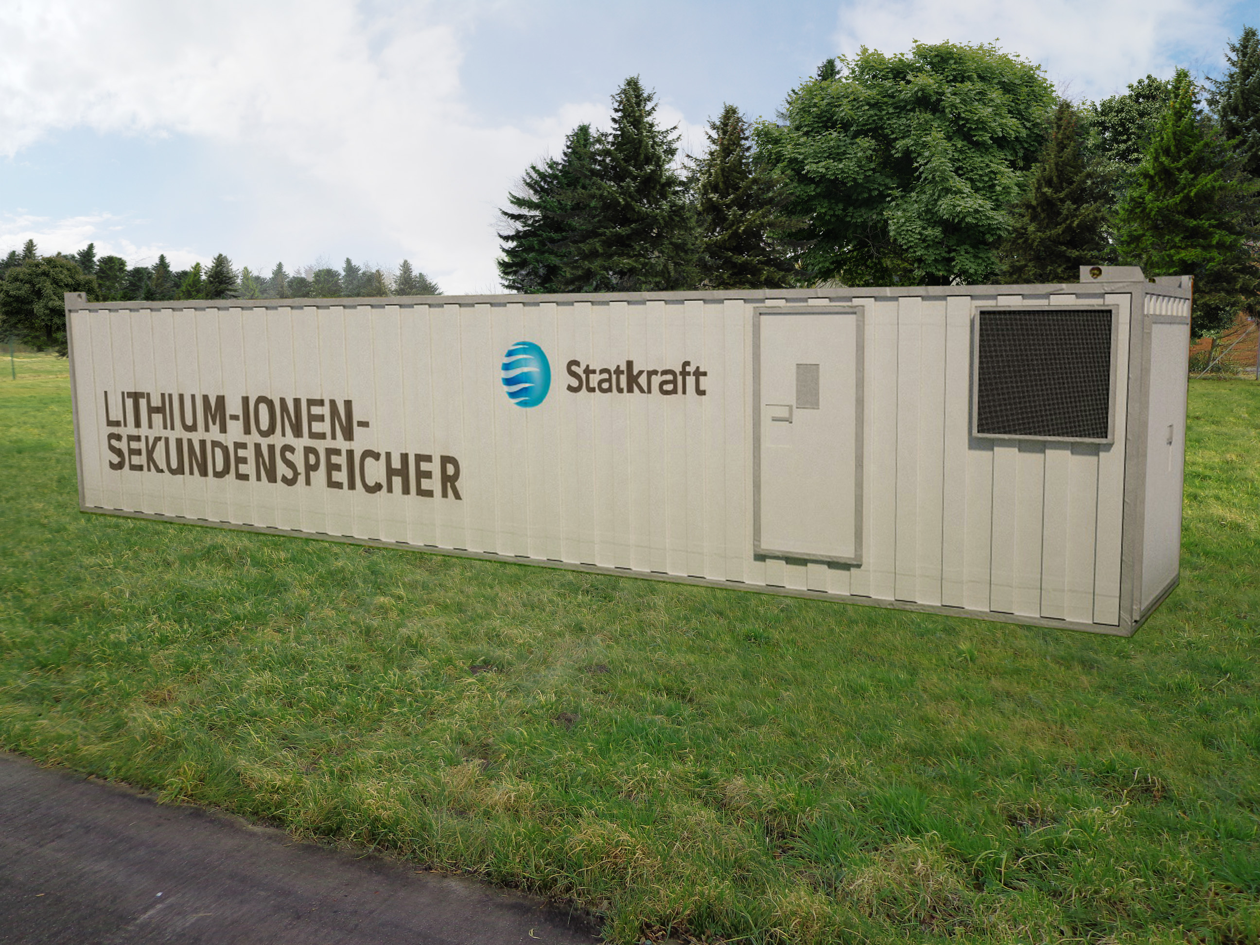 Modell eines Lithium-Ionen-Batterie-Containers