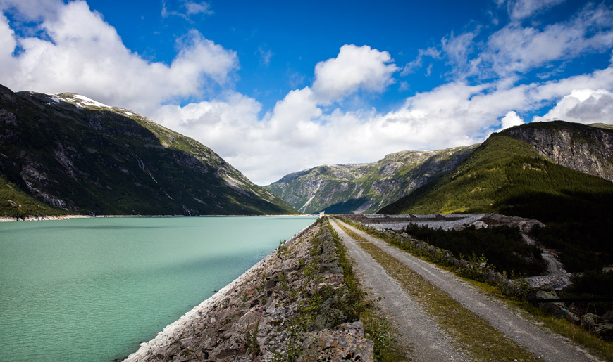 Water reservoir in Norway
