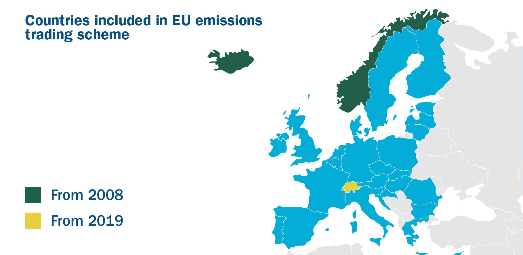 Countries in EU emission trading scheme